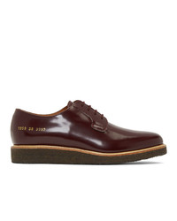 Common Projects Burgundy Derby Shoes