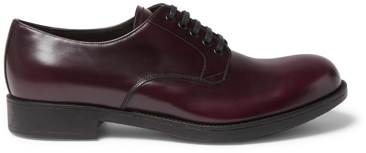 PradaSpazzolato Leather Derby Shoes lhnOnf