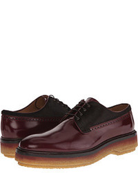 Etro Runway Leather And Pony Hair Oxford