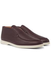 Loro Piana Open Walk Full Grain Leather Boots