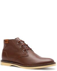 9e708f75a ... Lacoste Sherbrooke Hi Lace Up Boot Dk Burgundy ...