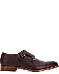 Grenson Perforated Monk Shoes