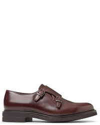 Brunello Cucinelli Leather Monk Strap Shoes