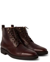 Billy Reid Kieran Cap Toe Leather Boots