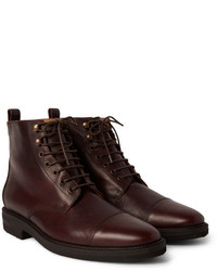Kieran cap toe leather boots medium 343097