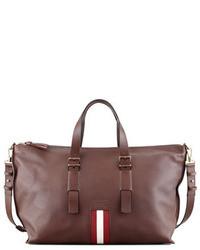 Burgundy Leather Duffle Bag
