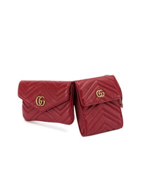 Gucci Gg Marmont Double Belt Bag