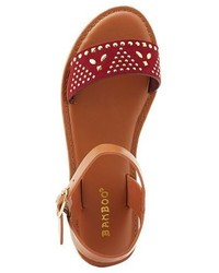 Charlotte Russe Bamboo Studded Buckle Sandals