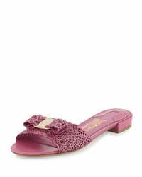 Gil laser cut flat slide sandal anemone medium 782818