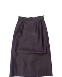 Burgundy Leather Full Skirt