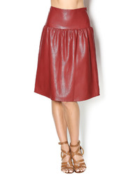 Junee Faux Leather Skirt
