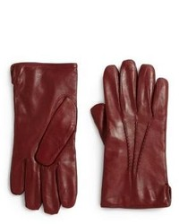 Saks Fifth Avenue Collection Leather Cashmere Gloves