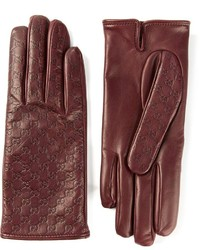 Gucci Embossed Logo Gloves