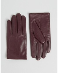Asos Leather Plain Gloves