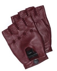 Marc by Marc Jacobs Leatherknit Fingerless Gloves