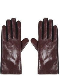 Topshop Mixed Media Gloves