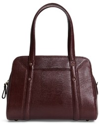Brooks Brothers Lizard Embossed Leather Medium Flap Satchel