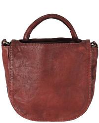 Burgundy Payne Leather Shoulder Bag