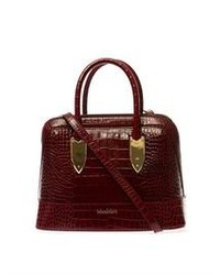 Max Mara Embossed Leather Small Bowling Bag