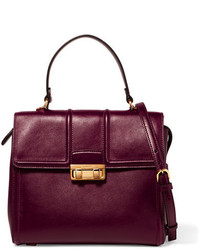 Lanvin Jiji Small Leather Tote Burgundy