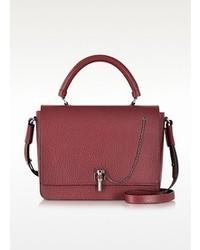 Malher burgundy grained leather handbag medium 95793