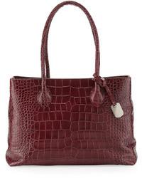 Furla Martha Medium Satchel Bag Burgundy