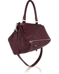Givenchy Medium Pandora Bag In Burgundy Leather