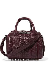 Alexander Wang Rockie Mini Textured Leather Shoulder Bag Burgundy