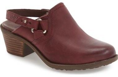 5cbb456d8ada37 ... Leather Heeled Sandals Teva Foxy Slingback Clog ...