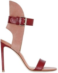 Francesco Russo 105mm Leather Suede Sandals