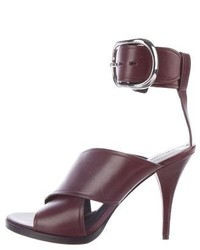 Alexander Wang Leather Crossover Sandals