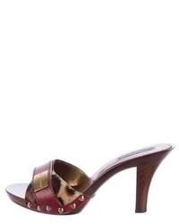 Dolce & Gabbana Leopard Print Ponyhair Sandals