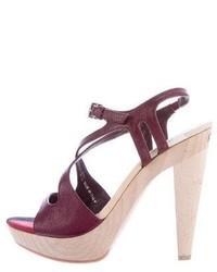 Burberry Platform Crossover Sandals