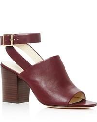 Bettye Muller Polish Ankle Strap Block Heel Sandals