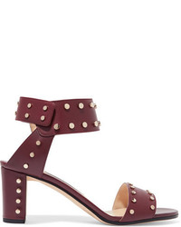 Veto 65 studded leather sandals claret medium 6698337