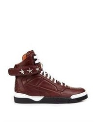 Givenchy Tyson Stars Leather High Top Trainers