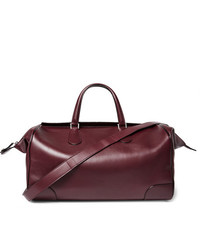 Burgundy Leather Holdall