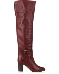 Chlo lenny leather knee high boots medium 1158614