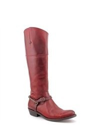 Frye Rider Spur Red Leather Fashion Knee High Boots