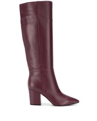 Sergio Rossi Knee Length Pointed Toe Boots