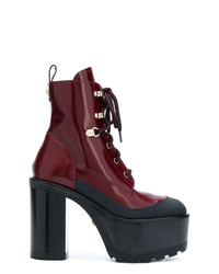 Versace Platform Lace Up Boots