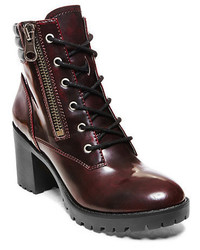 19cfc215f97 Women's Burgundy Leather Ankle Boots by Steve Madden | Women's ...