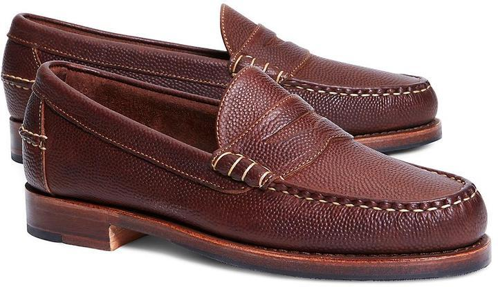 ed299189a3f ... Brooks Brothers Football Leather Penny Loafers ...