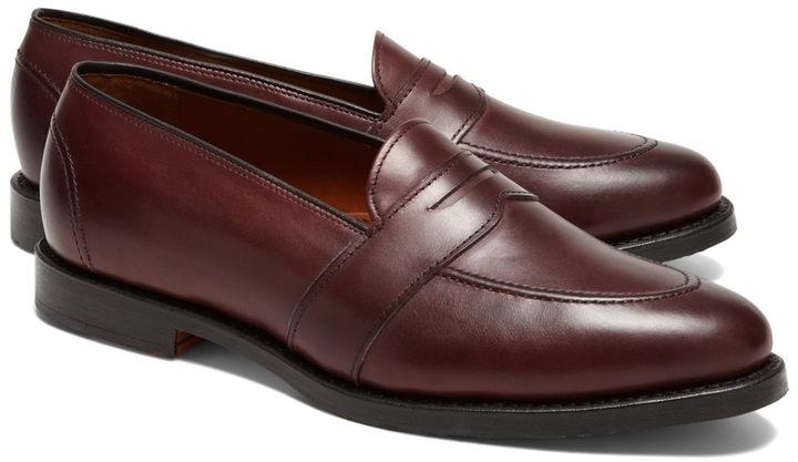 e5485743ecd ... Brooks Brothers Low Vamp Penny Loafers ...