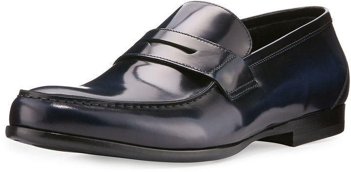 cab66d596b9 Harry s of London Harrys Of London James Gloss Calf Leather Penny ...
