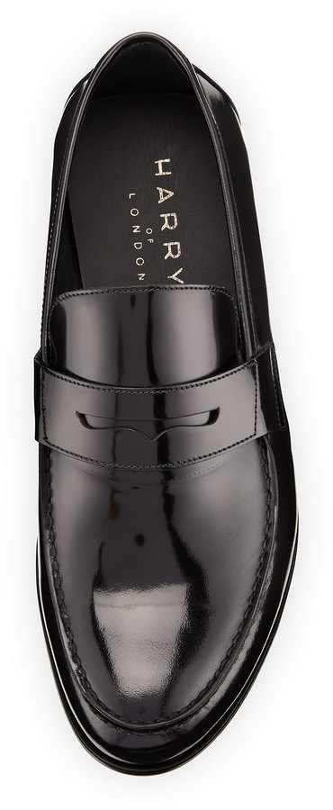 21c1c11e1d6 Harry s of London Harrys Of London James Gloss Calf Leather Penny Loafer