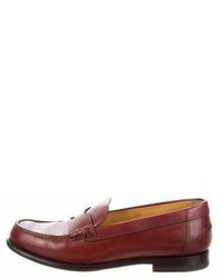 Hermes Herms Kennedy Round Toe Loafers
