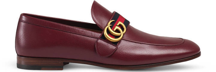 846c8ee55341 Gucci Leather Loafer With Gg Web