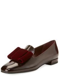 Limbow velvet bow loafer flat medium 4356273