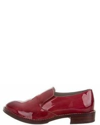 Brunello Cucinelli Patent Leather Round Toe Loafers W Tags